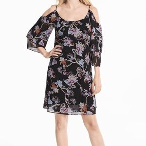 White House Black Market Floral Shift Dress